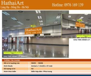 Quảng cáo trong nhà ga T1 - Sân bay Nội Bài