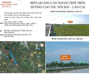 Biển quảng cáo Vị trí: Km9 + 250 Cao tốc Hà Nội – Lào Cai