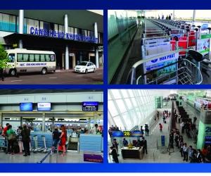 Quảng cáo trên xe đẩy sân bay tại Sân bay Phù Cát - Quy Nhơn