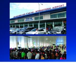 Quảng cáo trên xe đẩy sân bay tại Sân bay Phú Bài - Thừa Thiên Huế