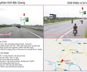 Biển quảng cáo QL1 - Bắc Giang