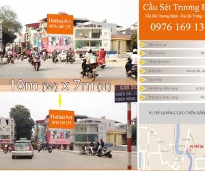 Biển quảng cáo Cầu Sét- Trương Định - Hai Bà Trưng - Hà Nội