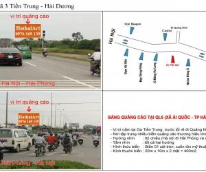 Biển quảng cáo Ql5 - Ngã 3 Tiền Trung - Hải Dương
