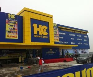 Sản xuất, lắp đặt biển hiệu và nội thất chuỗi Siêu thị điện máy HC trên toàn quốc