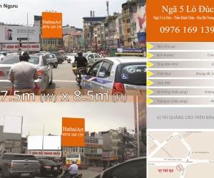 Biển quảng cáo Ngã 5 Lò Đúc - Trần Khát Chân - Hà Nội