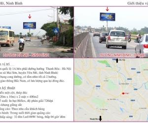 Biển quảng cáo QL1A - Yên Mô - Ninh Bình