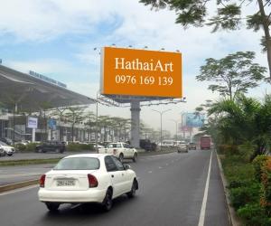Biển quảng cáo Ga đến - Sân bay Quốc tế Nội Bài