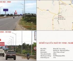 Biển quảng cáo Cửa ngõ TP. Vinh - Nghệ An