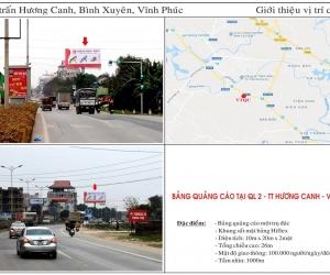 Biển quảng cáo tại Ql2 - TT Hương Canh - Vĩnh Phúc